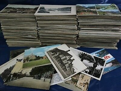 Old Vintage Mixed Topo Postcards Collection Job Lot Assortment Uk/foreign