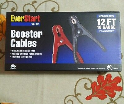 EverStart Value 12ft 10 Gauge Booster Cables Jumper Cables storage bag