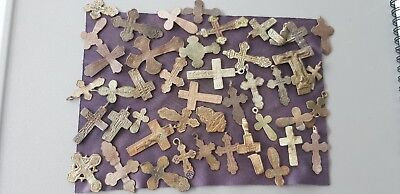Unique one off lot of Post Med to v old Crucifixes Please Read Description L104q
