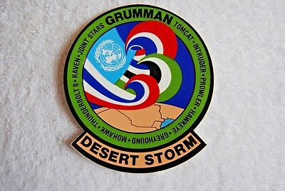 Authentic, Vintage Grumman Desert Storm USAF Navy Army Sticker Decal