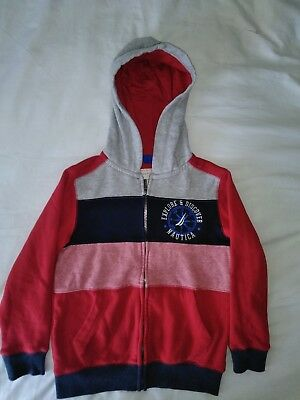 nautica hoodie kids explore discover red and blue and grey great size and new