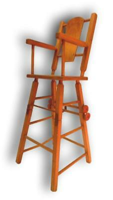 Seat high chair wooden 50 years double function vintage modern antiques