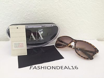 936b9e60ea New Authentic Armani Exchange Women s Tortoise AX185 S 0YJY 02 Sunglasses