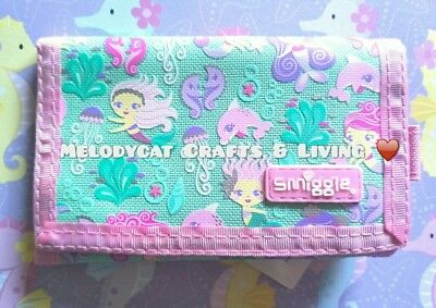 NEW! 💕SMIGGLE Kid's Wallet Purse for Girls, 🐬 Mermaids  🐚