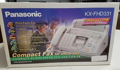 Panasonic Kx-Fhd331 Plain Paper Fax And Copier With Caller Id