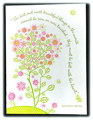 Vintage Helen Keller Quote Best And Most Beautiful Things Thinking Of You Card