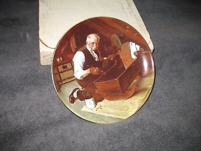 Norman Rockwell Plate from the Golden Moments Collection - Grandpa's Gift