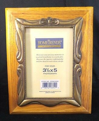 HomeTrends Wood & Metal PHOTO PICTURE FRAME
