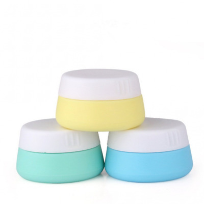 Holzsammlung Silicone Cosmetic Containers Cream Travel Jars with Sealed Lids,