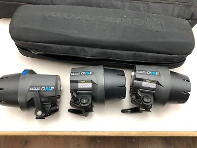 Elinchrom d-lite rx one 3 head kit with Manfrotto boom - hardly used