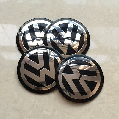4x 56mm Car Wheel Center Hub Cap Emblem Badge Decal Sticker for VW Volkswagen