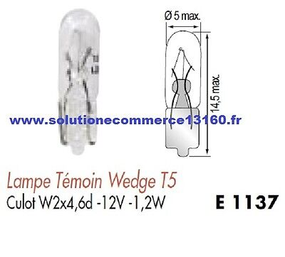 SET OF 2 LAMP BULB WITNESS WEDGE T5 12V 12 Volts 1,2W Base W2x4,6d