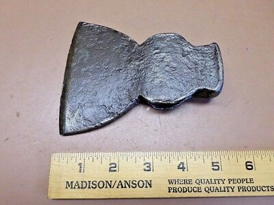 "Antique Hand Forged Hatchet Head 4"" Edge 1 Lb. 5.6 Oz. Nice Clean Old One!"