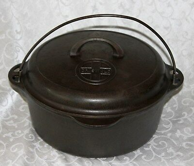 Vintage Griswold #8 Tite-Top Cast Iron Dutch Oven 1278 Self Basting Lid 1288