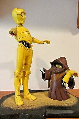 Gentle Giant STAR WARS ANIMATED C3PO and Jawa Statue 1090/4500