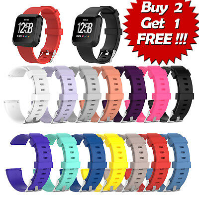 TX Replacement Silicone Rubber Classic Band Strap Wristband For Fitbit Versa e0