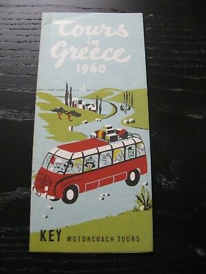 Vintage Brochure Tours in Greece 1960 Key Motorcoach Tours Travel Pamphlet