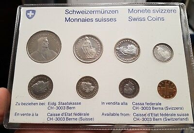 1979 Switzerland Proof 8 Coin Set Toning