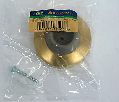 3  - Ives WS407CCV US4, Satin Brass Door Stop, 407 1/2 B4 Door Stop LOT of 3