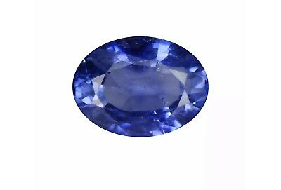 0.67Ct Sensational Oval cut 6 x 4 mm Top Luster Blue Sapphire