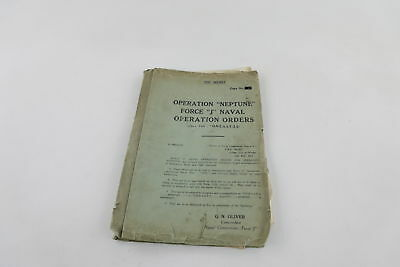 Very RARE WW2 Operation Neptune Top Secret File Dated May 1944 G.N.OLIVER