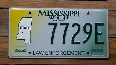 Mississippi Law Enforcement License Plate/Tag - NOS ~ 7729E ~ Embossed