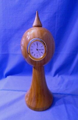 *Handmade Stylish Wooden Round Clock*  Made in Elm.  Mantle/Living/Dinning Room.