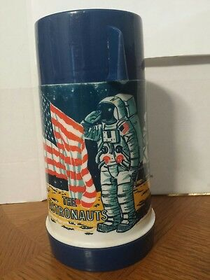 Aladdin 1969 The Astronauts Moon Lunchbox Thermos - Good Condition!! No Stopper