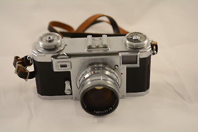 Contax IIa Zeiss Sonnar 50mm f/1.5 35mm Rangefinder Camera GREAT plus extras