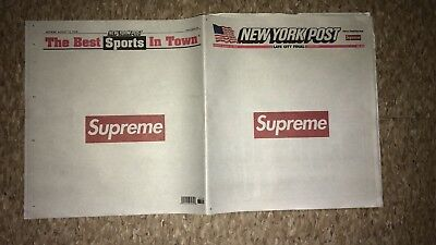 Supreme New York Post Newspaper FW18 - 8/13/2018 NY