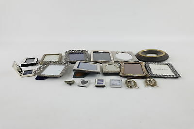 JOB LOT VINTAGE PHOTO FRAMES inc. Silver Plated, Engraved, Pairs