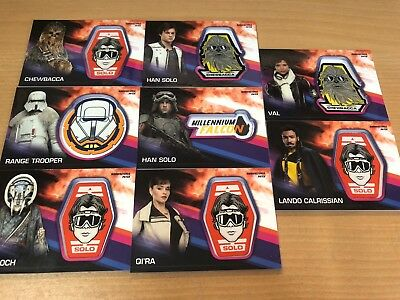 2018 Topps Solo A Star Wars Story Manufactured Relic Patch Card x 8 Solo, Lando