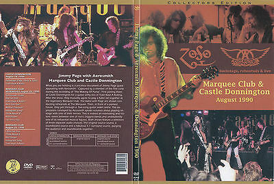 AEROSMITH & JIMMY PAGE Marquee Club 8/20/90 & 8/18/90 Real DVD New LED ZEPPELIN