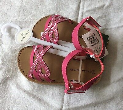 Girls Laura Ashley Fushia Pink Sandals Size 10 New With Tags