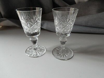 6 Edinburgh Crystal Sherry Glasses each clearly marked to base,