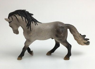 Schleich Horse Club Andalusian Stallion Action Toy Gray Pony 2005 Model 13607