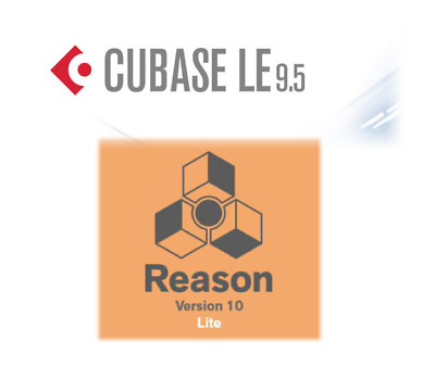 Cubase LE 9.5 + Reason 10 LE (DAW LICENSES)
