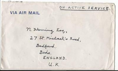 1947 Singapore South East Asia Land Force To  Uk  F.p.o.18 (50)