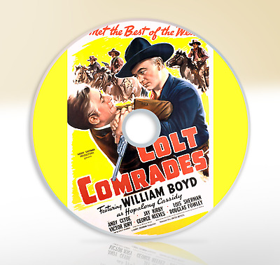 Colt Comrades (1943) DVD Classic Western Movie / Film William Boyd Andy Clyde