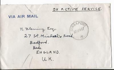 1947 Singapore South East Asia Land Force To  Uk + Letter (58)