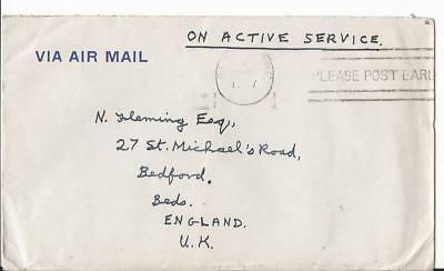 1947 Singapore South East Asia Land Force To  Uk + Letter (60)