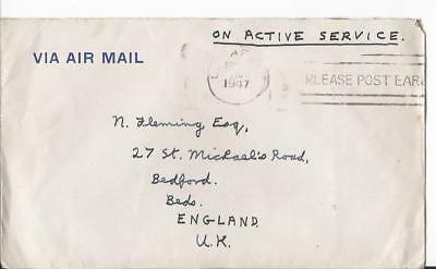 1947 Singapore South East Asia Land Force To  Uk + Letter (61)