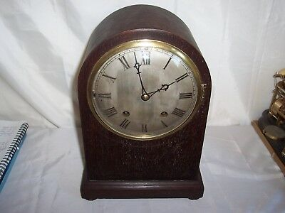 Lovely Dome Top Winterhalder Hofmeier Westminster Chimes Bracket,mantle Clock