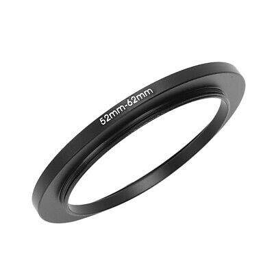 52mm-62mm 52mm to 62mm Black Step Up Ring Adapter for Camera H4C7