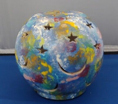 MANA POTTERY Lamp/candle shade with moons and stars