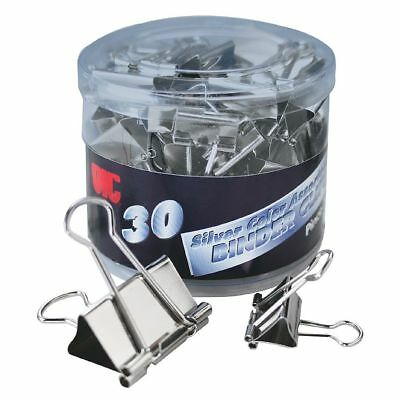 OIC® Assorted Binder Clips, Assorted Sizes, Silver, Pack Of 30