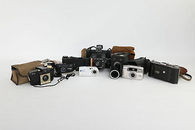 Lot of 8 x Vintage Film Cameras Mixed Inc. Polaroid, Pentax