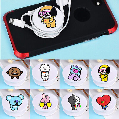 KPOP BTS BT21 Phone Stand Holder Bangtan Boys Universal Phone Holder Grip V JIN