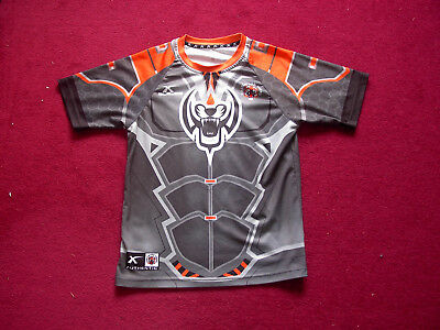 Castleford Tigers Rugby League Training Shirt/top/child 12-14 years large boys