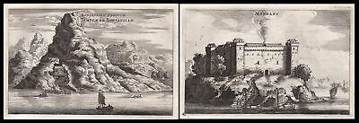 1668 China Asia Ansicht view castle Burg Kupferstich antique print Nieuhof Asien